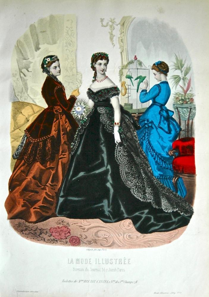 La Mode Illustree. 1869. Number 3. (Coloured Lithograph)