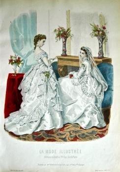 La Mode Illustree. 1869. Number 2. (Coloured Lithograph)