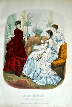 La Mode Illustree. 1869. Number 4. (Coloured Lithograph)