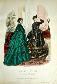 La Mode Illustree. 1869. Number 5. (Coloured Lithograph)