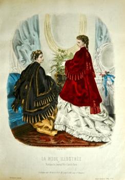 La Mode Illustree. 1869. Number 6. (Coloured Lithograph)