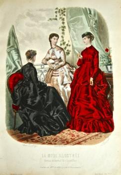 La Mode Illustree. 1869. Number 9. (Coloured Lithograph)