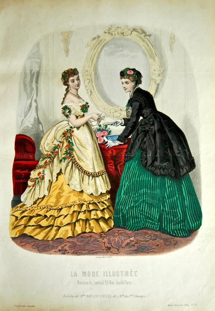 La Mode Illustree. 1869. Number 10. (Coloured Lithograph)
