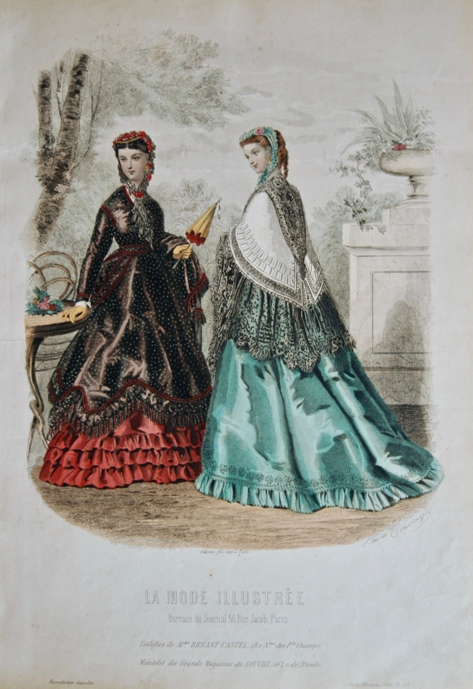 La Mode Illustree. 1868. Number 25. (Coloured Lithograph)