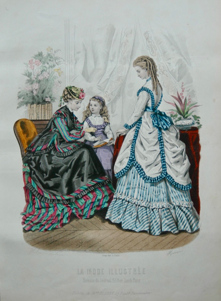 La Mode Illustree. 1869. Number 14. (Coloured Lithograph)