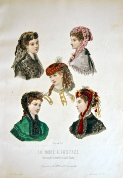 La Mode Illustree. 1868. Number 42. (Coloured Lithograph)