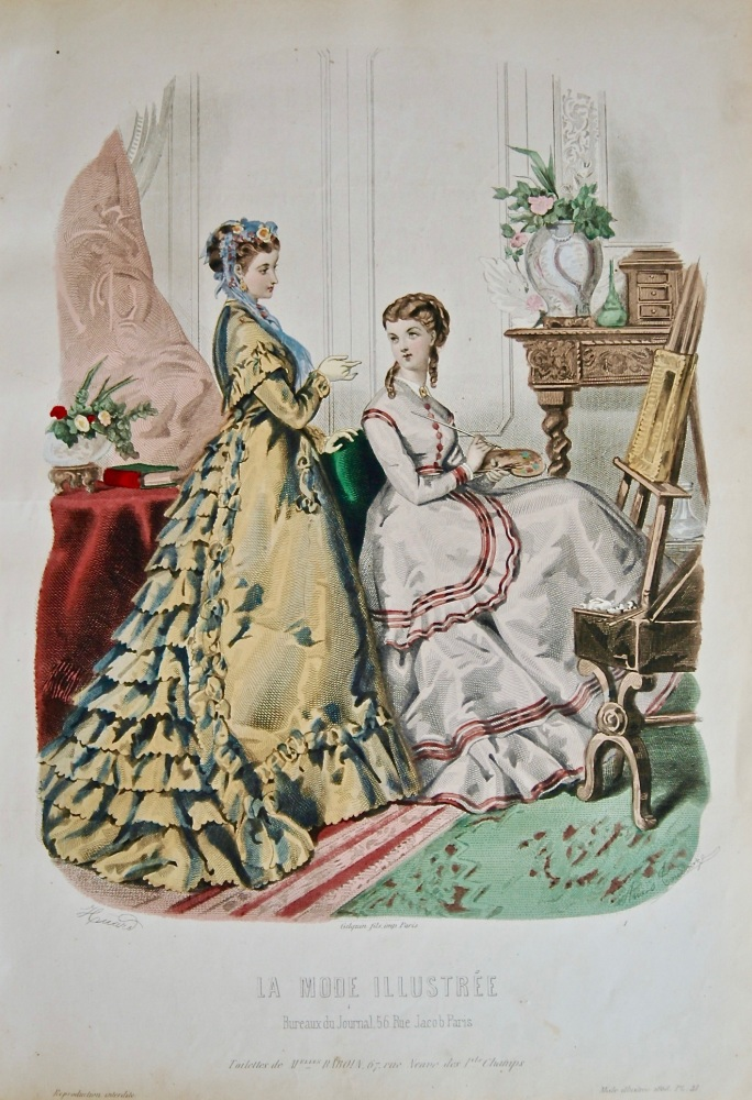 La Mode Illustree. 1868. Number 41. (Coloured Lithograph)