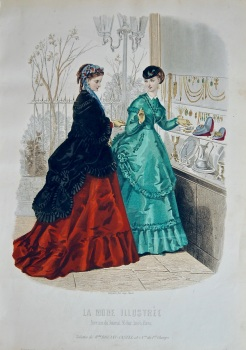 La Mode Illustree. 1868. Number 39. (Coloured Lithograph)