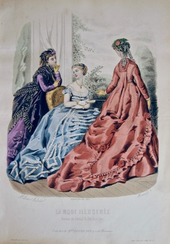 La Mode Illustree. 1868. Number 37. (Coloured Lithograph)