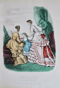 La Mode Illustree. 1868. Number 36. (Coloured Lithograph)