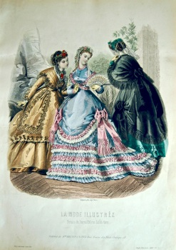 La Mode Illustree. 1868. Number 35. (Coloured Lithograph)