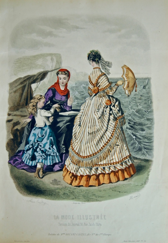 La Mode Illustree. 1868. Number 34. (Coloured Lithograph)