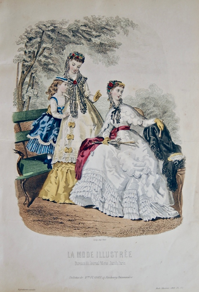 La Mode Illustree. 1868. Number 32. (Coloured Lithograph)