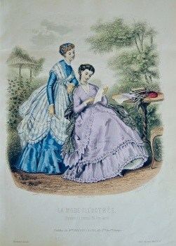 La Mode Illustree. 1868. Number 29. (Coloured Lithograph)