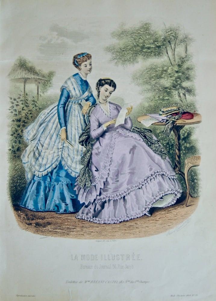 La Mode Illustree. 1868. Number 29. (Coloured Lithograph)