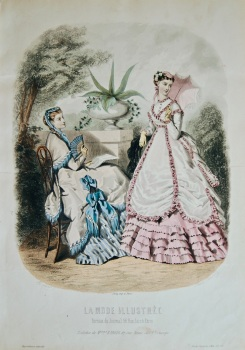 La Mode Illustree. 1868. Number 30. (Coloured Lithograph)