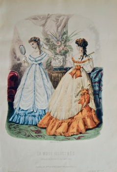 La Mode Illustree. 1868. Number 31. (Coloured Lithograph)