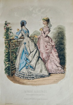 La Mode Illustree. 1868. Number 27. (Coloured Lithograph)