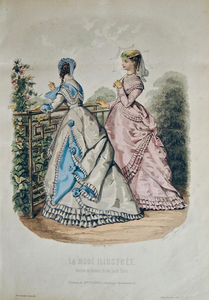 La Mode Illustree. 1868. Number 27. (Coloured Lithograph)