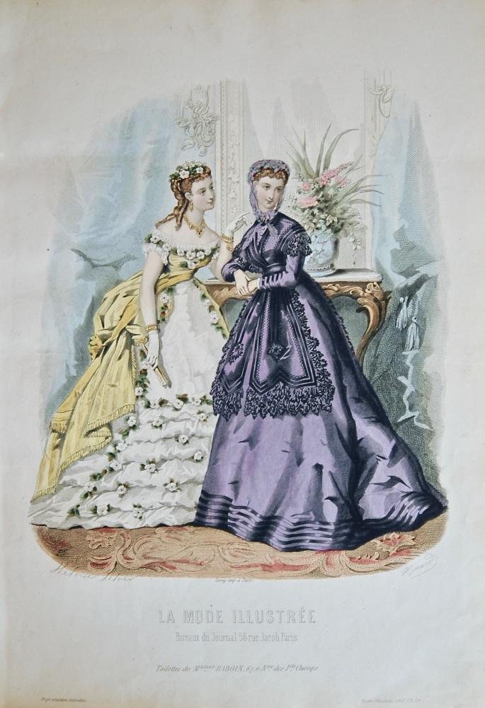 La Mode Illustree. 1868. Number 26. (Coloured Lithograph)