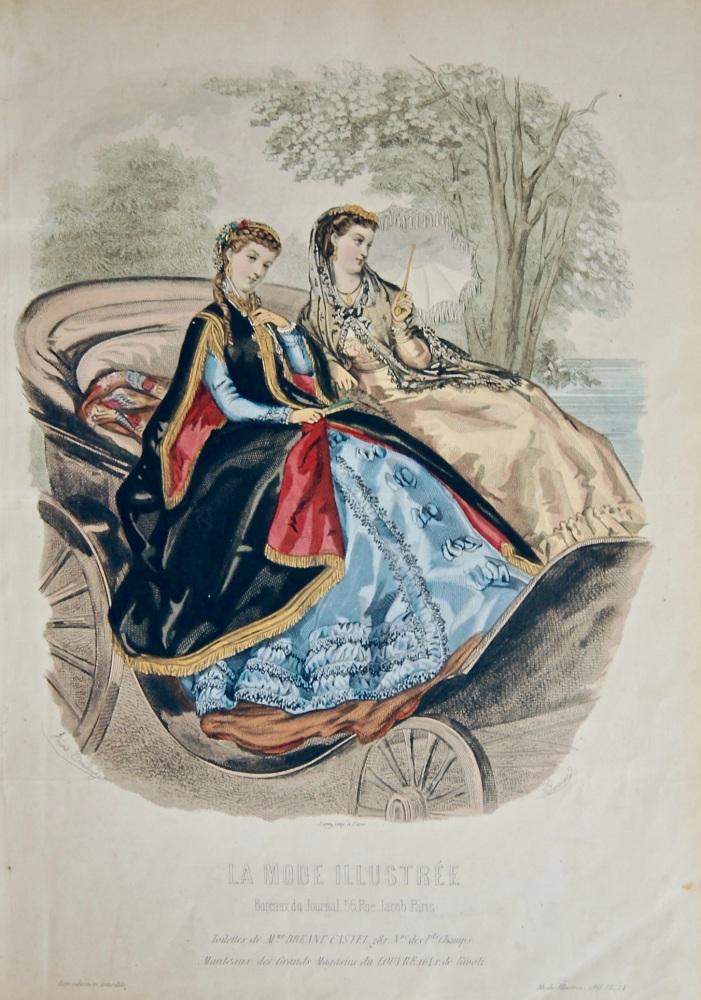 La Mode Illustree. 1868. Number 24. (Coloured Lithograph)