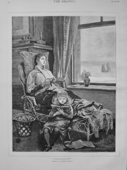 """Convalescent"" (Drawn by Arthur Hopkins). 1882."
