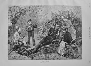 """""""Home Again"""" (Drawn by Arthur Hopkins). 1882"""