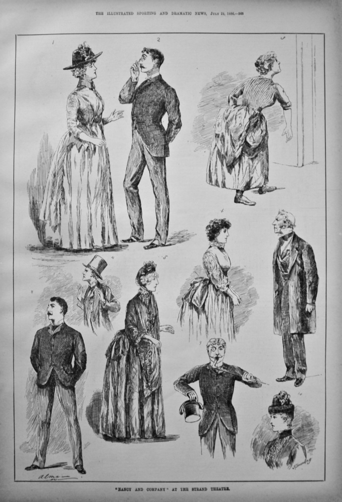 """""""Nancy and Company"""" at the Strand Theatre. 1886."""
