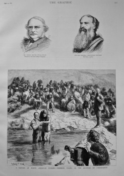A Baptism of North American Indians - Mormons Posing as the Apostles of Christianity. 1882