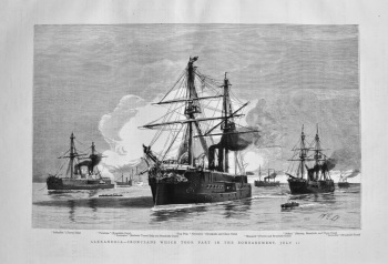 Alexandria - Ironclads Which Took Part in the Bombardment, July 11. 1882