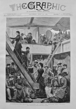 "Alexandria - The English Quarters on Board the Refugee Ship ""Rosina"" 1882"