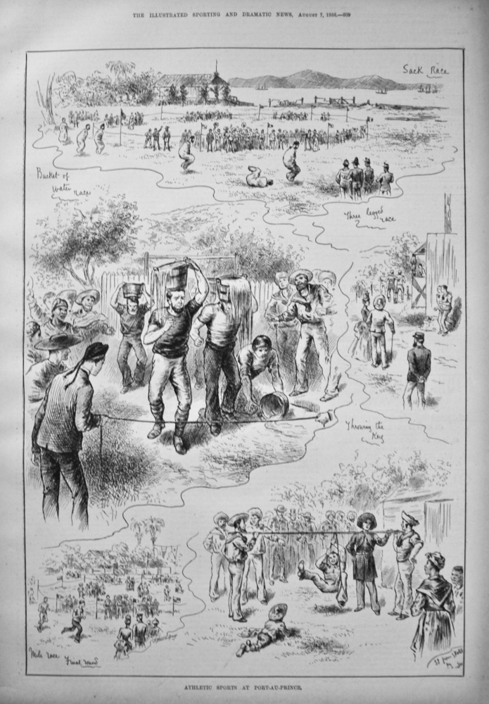 Athletic Sports at Port-Au-Prince. 1886.