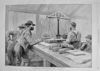 Au Klondyke. - La Pessage Des Lingots. 1894.