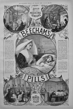 Beecham's Pills. 1886.