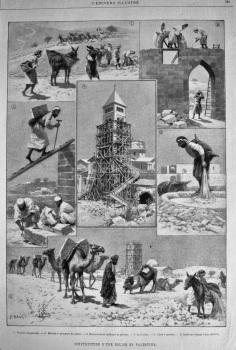 Construction D'Une Eglise En Palestine. 1894.