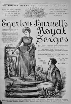 Egerton Burnett's Royal Serges. 1886.