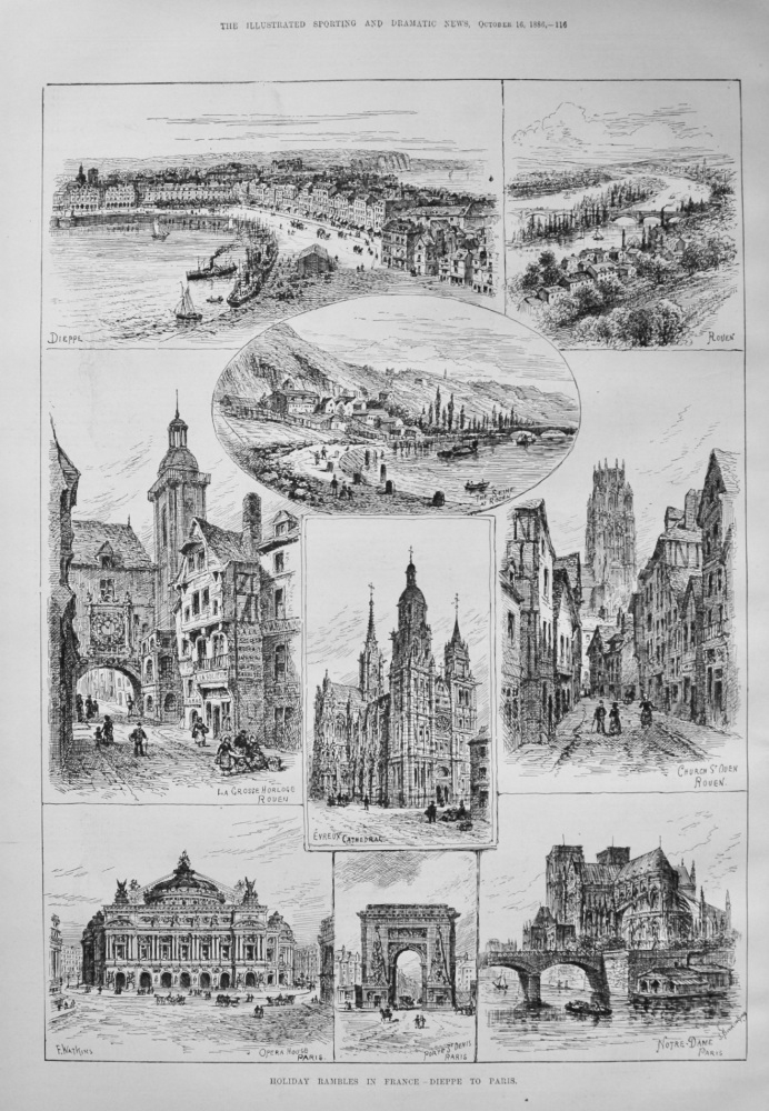 Holiday Rambles in France - Dieppe to Paris. 1886