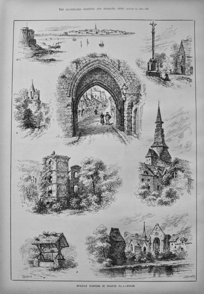 Holiday Rambles in France.  No. 1.- Dinan. 1886