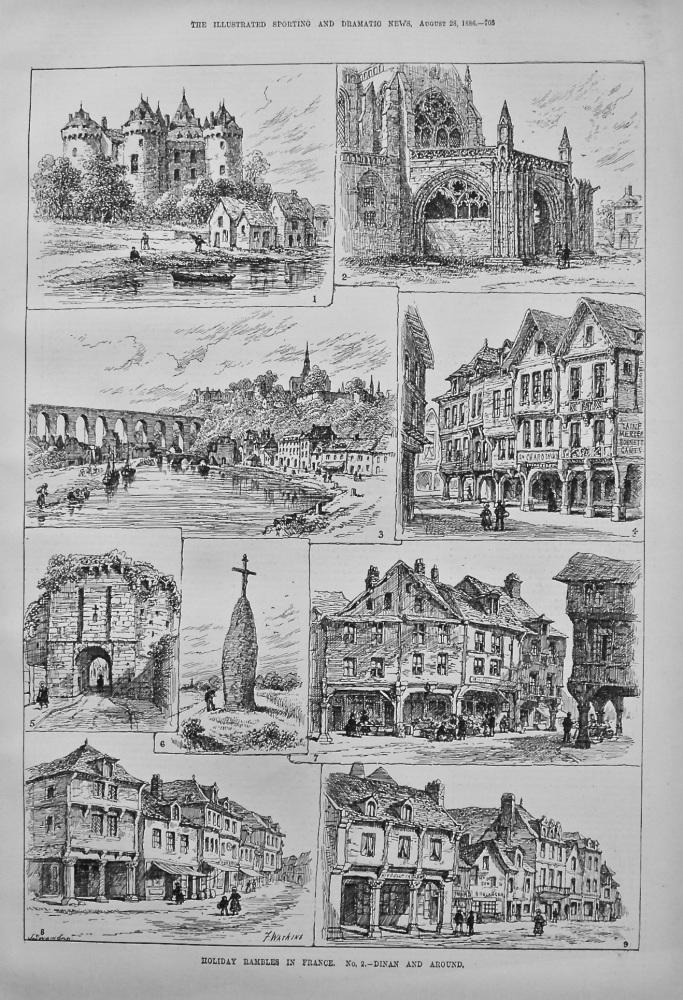 Holiday Rambles in France. No. 2.- Dinan and Around. 1886.