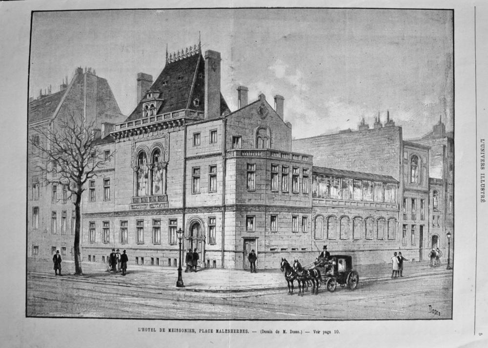 L'Hotel De Meissonier, Place Malesherbes. 1894