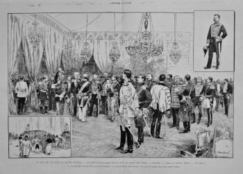 Le Jour De L'an Dans Le Monde Officiel. - Le Corps Diplomatique Réuni Dans Le Salon Des Fetes a L'Elysee. 1894.
