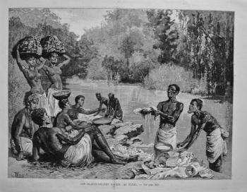 Les Blanchisseuses Cafres, Au Natal. 1893.