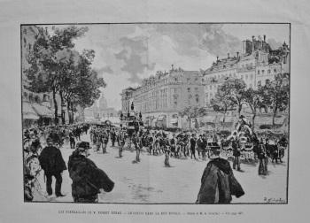 Les Funérailles De M. Ernest Renan. - Le Convoi Dans La Rue Royale. 1892.