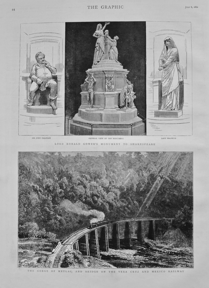 Lord Ronald Gower's Monument to Shakespeare. 1882.