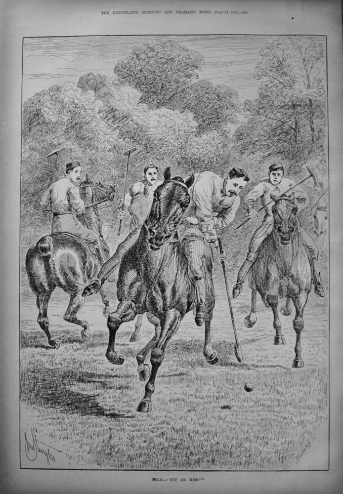 "Polo.- ""Hit or Miss!"". 1886."