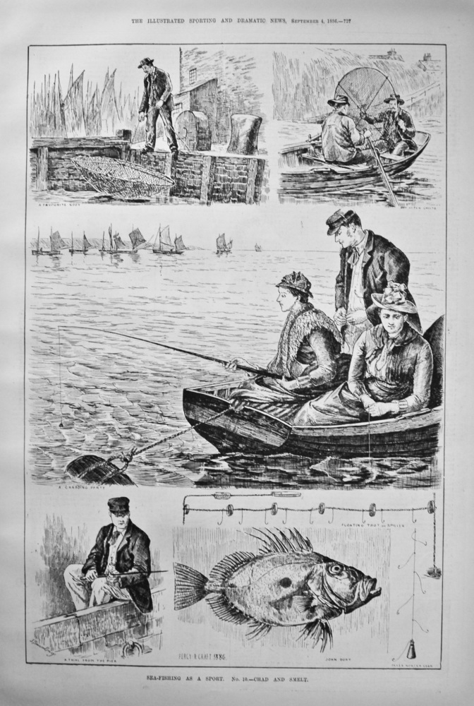 Sea-Fishing as a Sport. No. 10.- Chad and Smelt. 1886