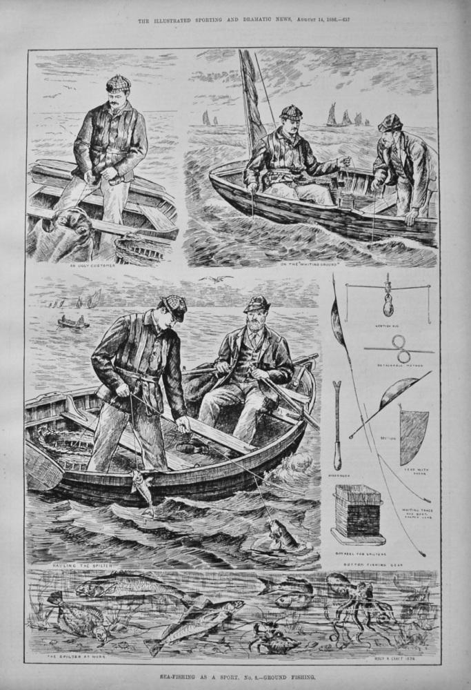 Sea-Fishing as a Sport. No. 8.- Ground Fishing. 1886