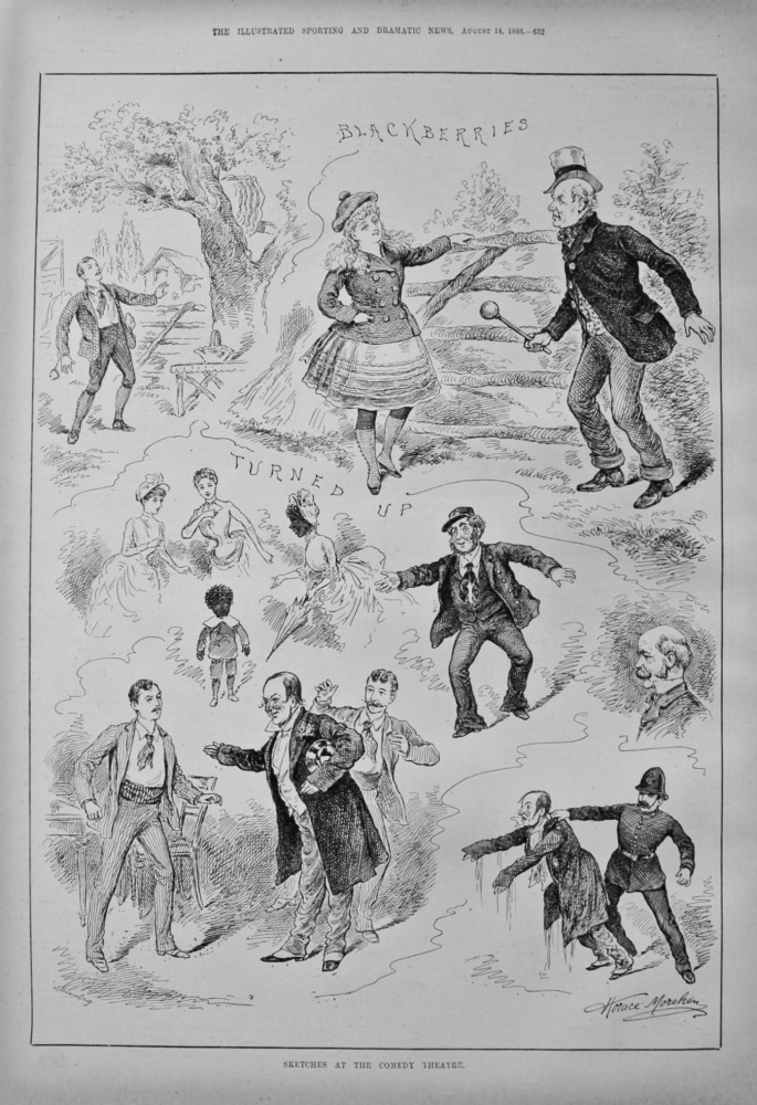 Sketches at the Comedy Theatre. 1886.