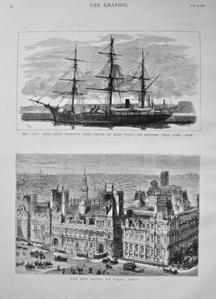 """The """"Eira"""" Arctic Relief Expedition under Captain Sir Allen Young - The Exploring Steam Vessel """"Hope""""."""