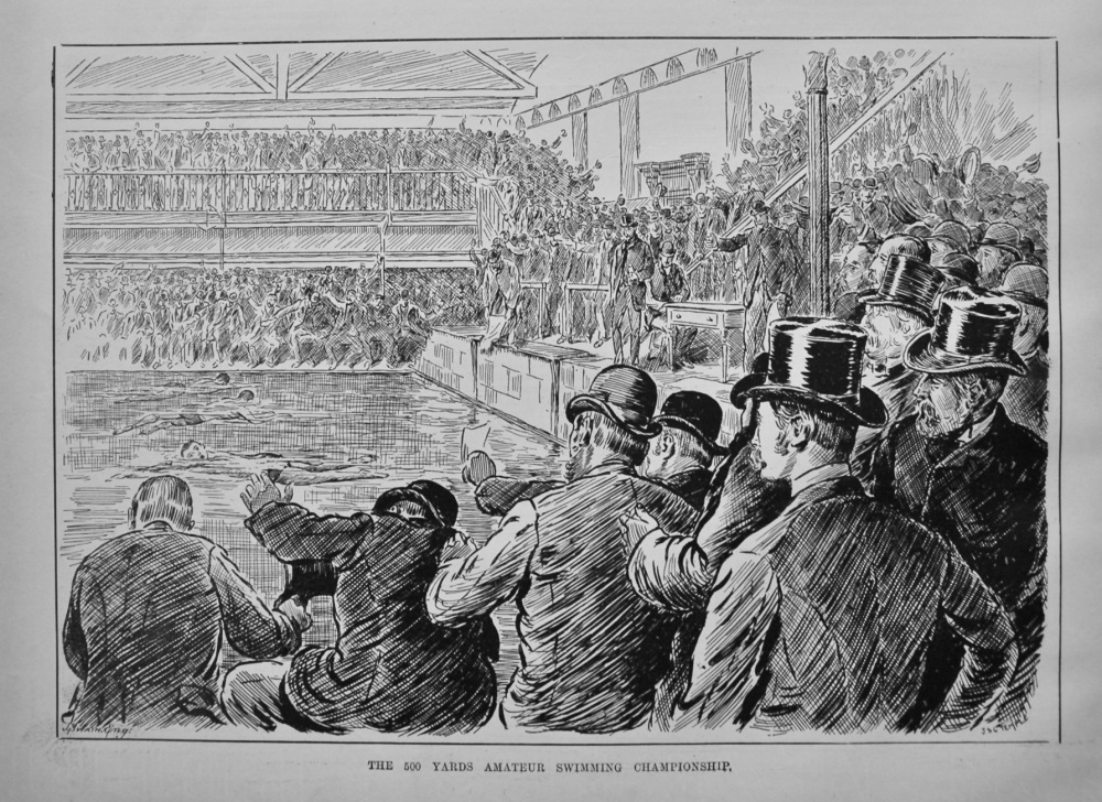The 500 Yards Amateur Swimming Championship. (Held at the Lambeth Baths). 1886